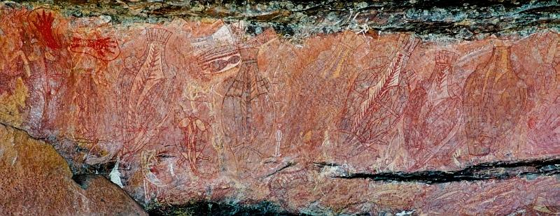 Aboriginal art at Ubirr Rock