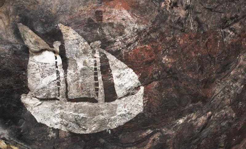 Aboriginal art at Hawk Dreaming - 3