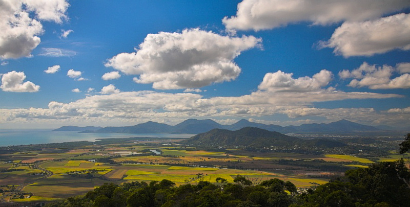Cairns from above scenic view