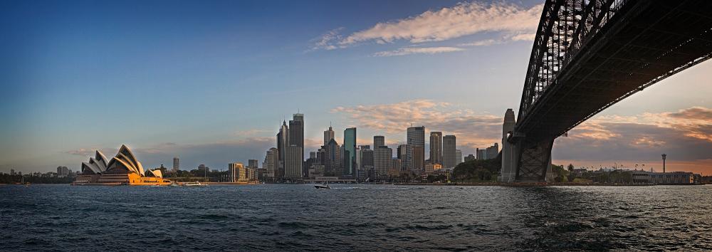 Sydney Skyline, Opera House and Bridge panorama