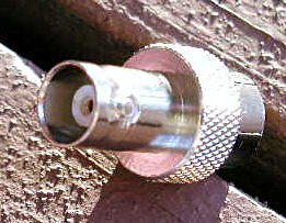 BNC female side of connector