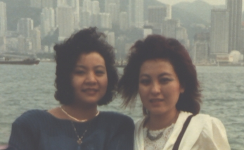 Vickie and Bassie at the Victoria Harbour Kowloon Hong Kong