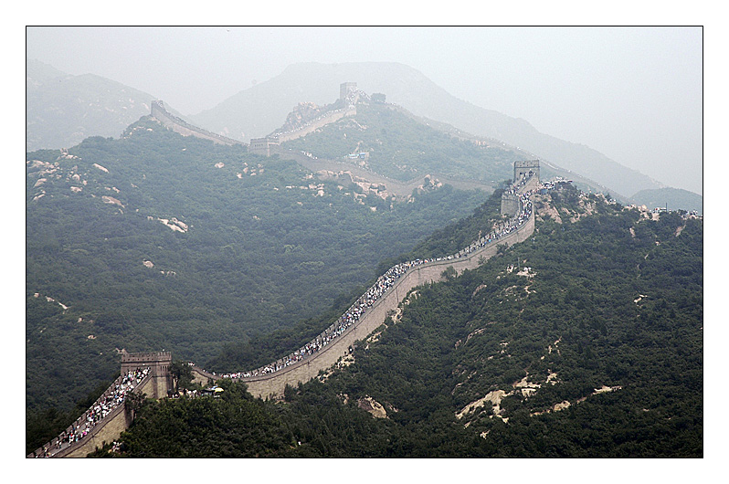 empty Great Wall : dream on China is crowded