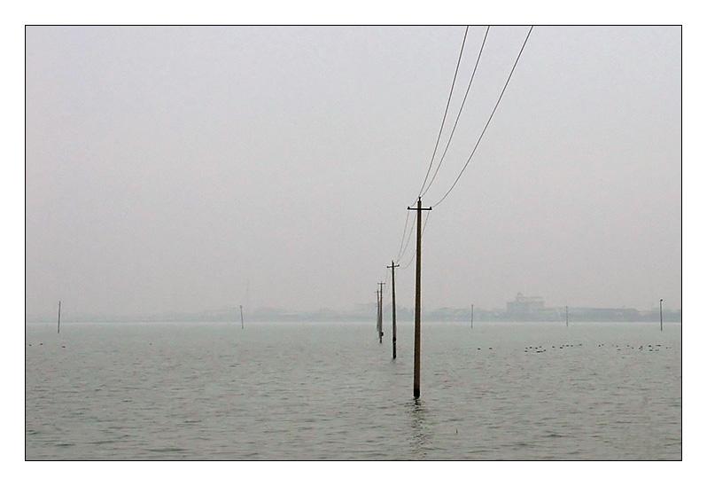 random cables & poles everywhere