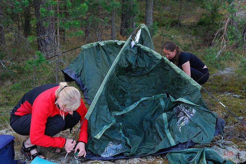 mycke pyssel med tält...