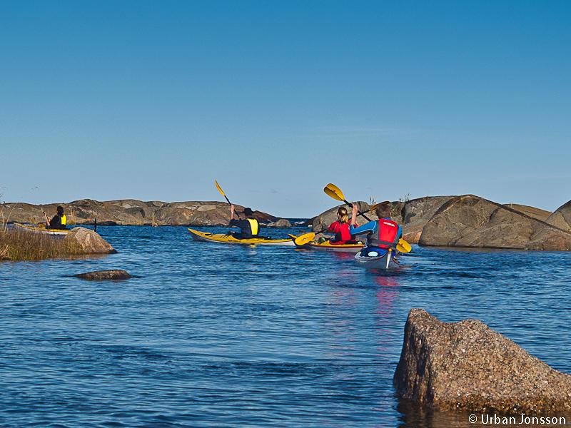 Fina små passager & tidvis paddling med horisontvy.