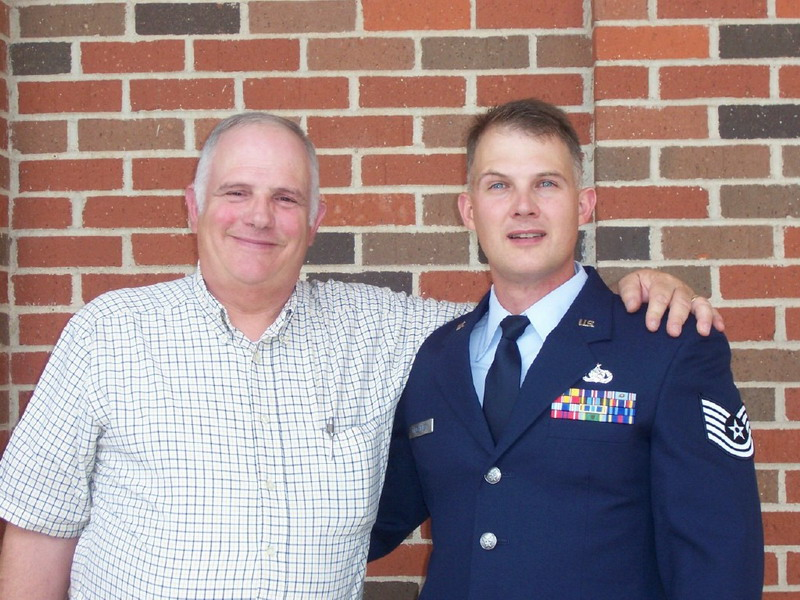 Dave  ( NKP 69-70) and son TSgt. Jon Gilchriest
