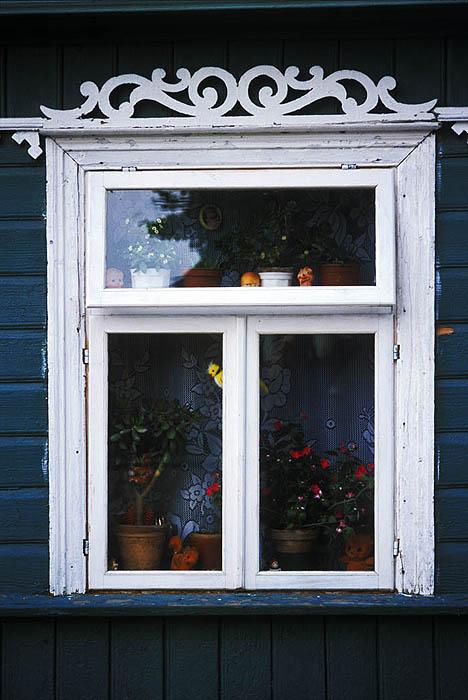 Cottage window at Trakai
