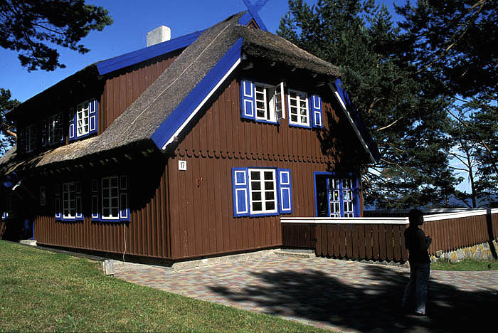 Summer cottage of the Nobel Prize-winning German author Thomas Mann at Nida on the Curonian Strip