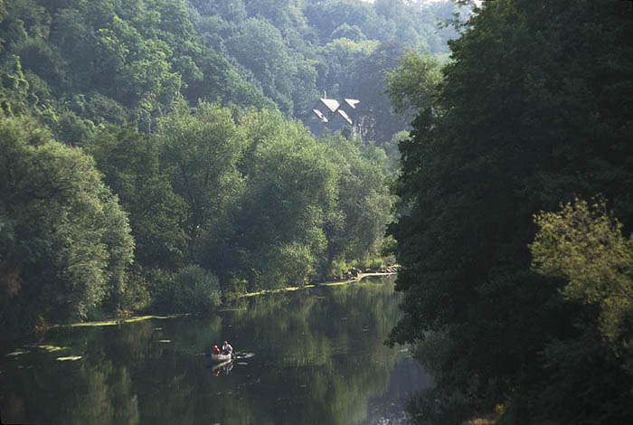 Wye River at Welsh Bicknor, separating England from Wales