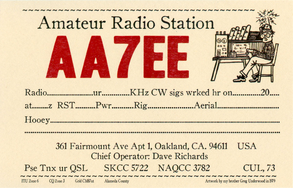 ... Best Bent Wire, and Some New Home-Made QSL Cards : Dave Richards AA7EE