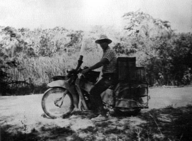 On the road between Honduras and Sakatchewan, probably in Belize.