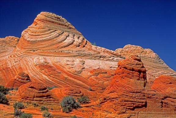 (STRA36) Cross bedding in Jurassic Navajo Sandstone, North Coyote Buttes, AZ