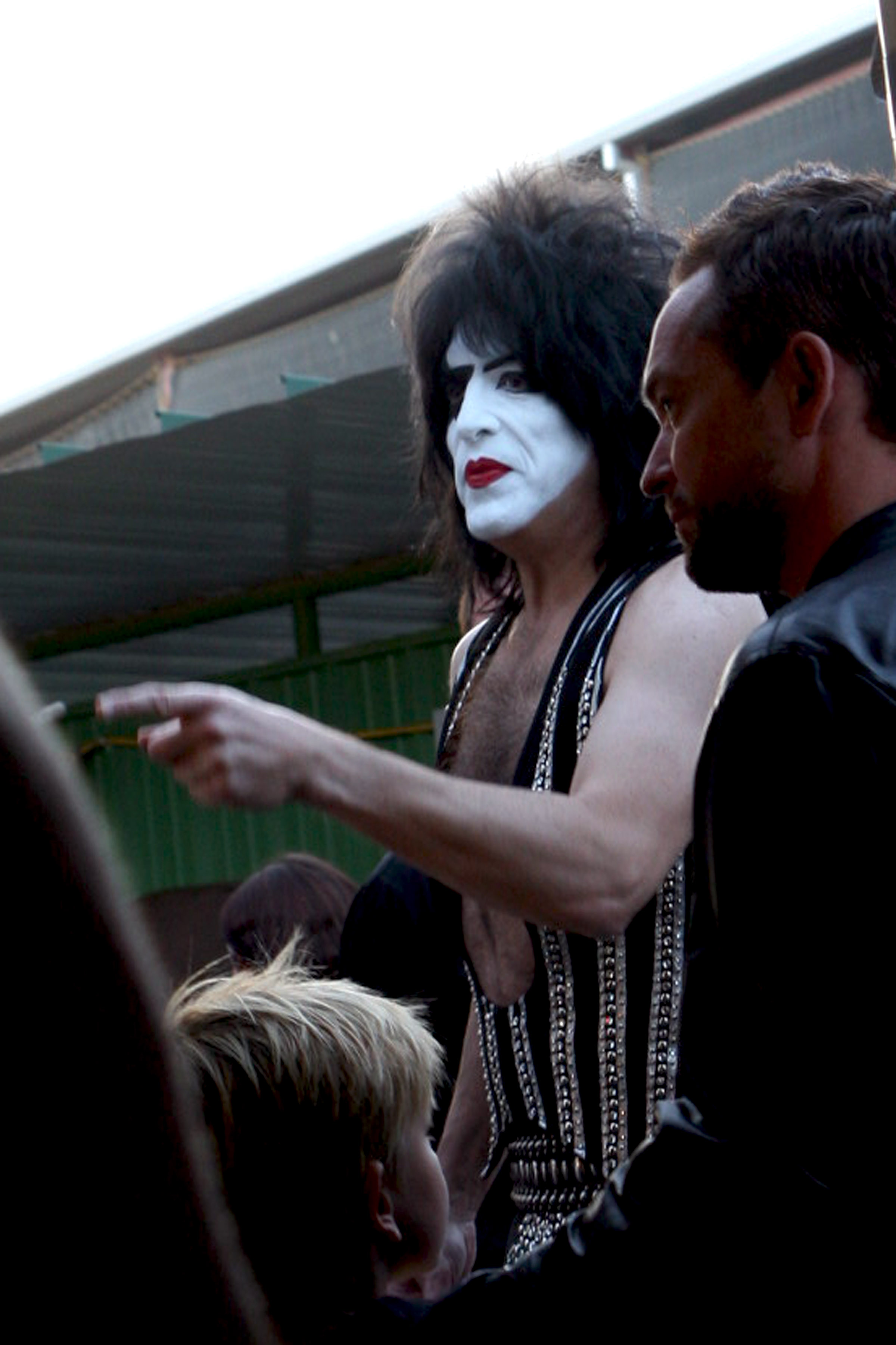 Paul Stanley backstage