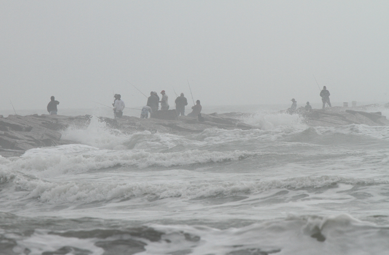 South Jetty Fishing in Fog