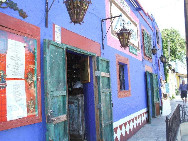 Mi Casa restaurant in Cabo, a very colorful building
