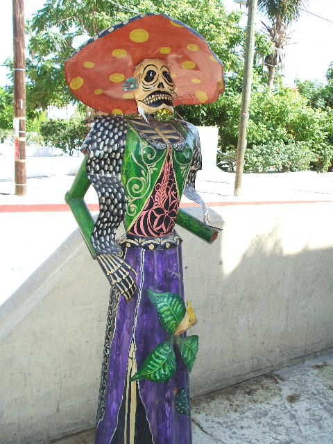 A figure outside Mi Casa