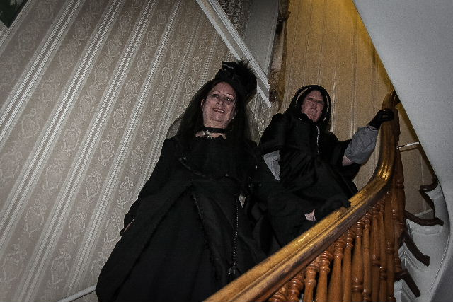 Taken inside one of the haunted historic houses