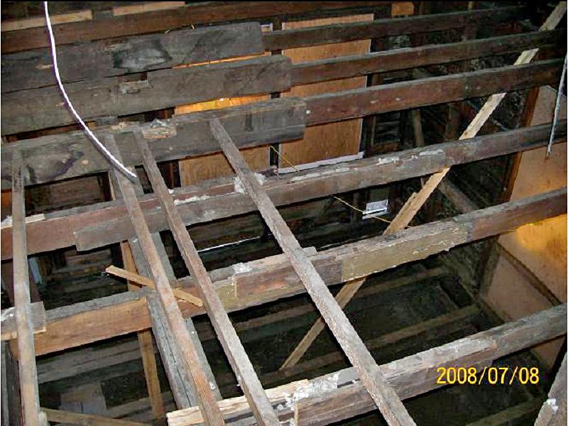 Second Floor Rotten Beams