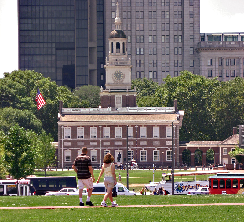 Independence Hall, with the mall before it