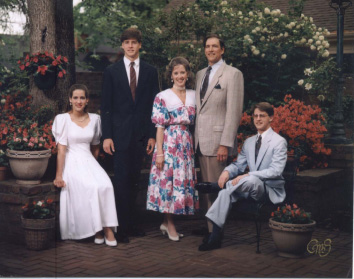 daughter Virginia, son John, wife Anne Ward, myself, and son Marvin, Jr