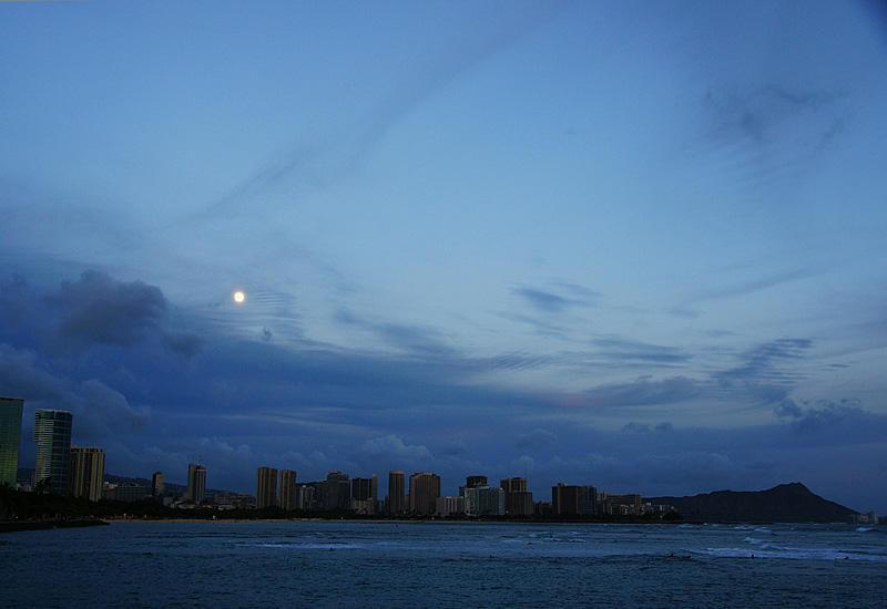 Moonlight over Waikiki
