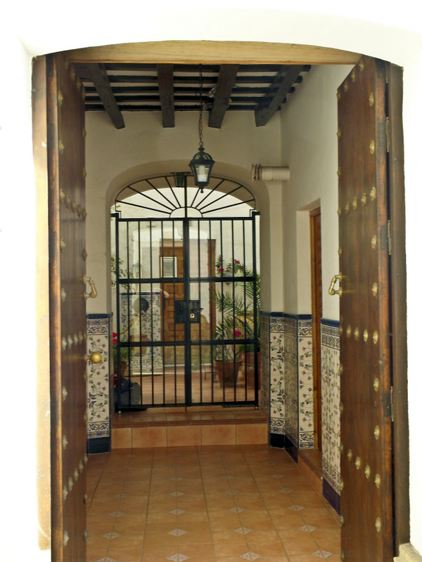 inside an andalusian house,