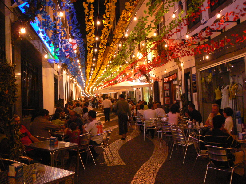 Funchal by night.