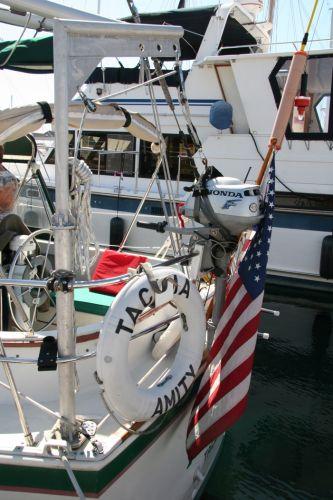 custom outboard motor hoist