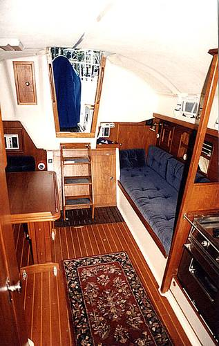 salon port aft from fwd cabin