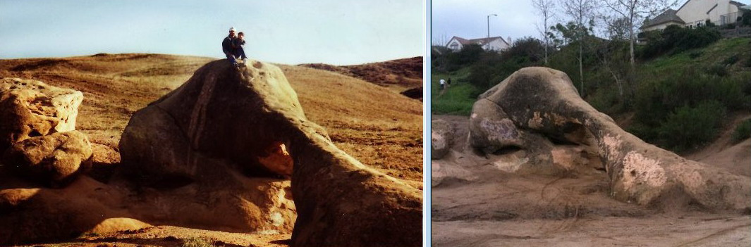 Elephant Rock before/after
