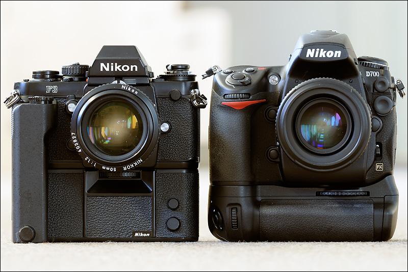Nikon F3 vs Nikon D700