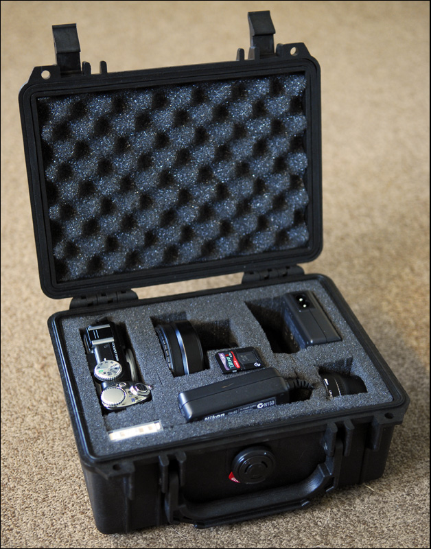 My Nikon COOLPIX P5100 in a PELI case