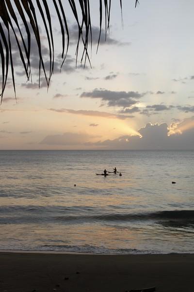 11.  Twilight from the beach at Villa Antonio.