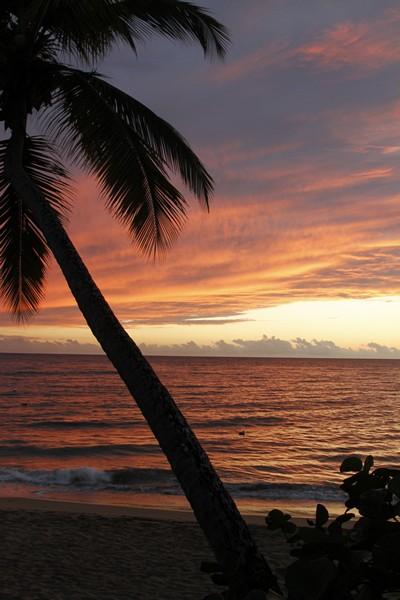 12.  Sunset off the beach at Villa Antonio.