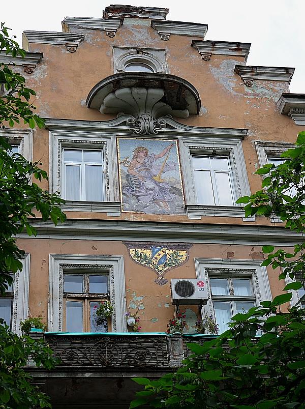 Odessa: building with original mosaic