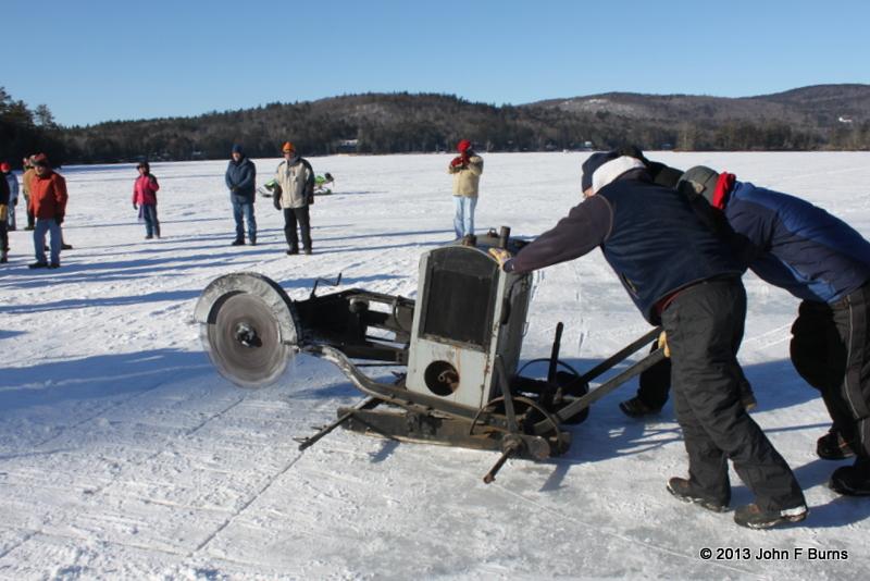 Kezar Lake Ice Cutting