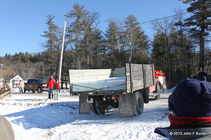 Load of Ice on 1948 Dodge Truck