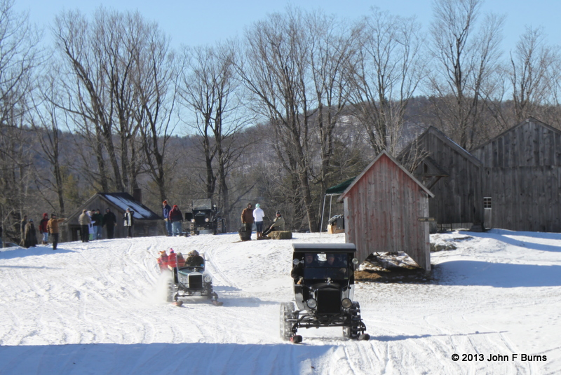 Model T Ford Snowmobile Rides