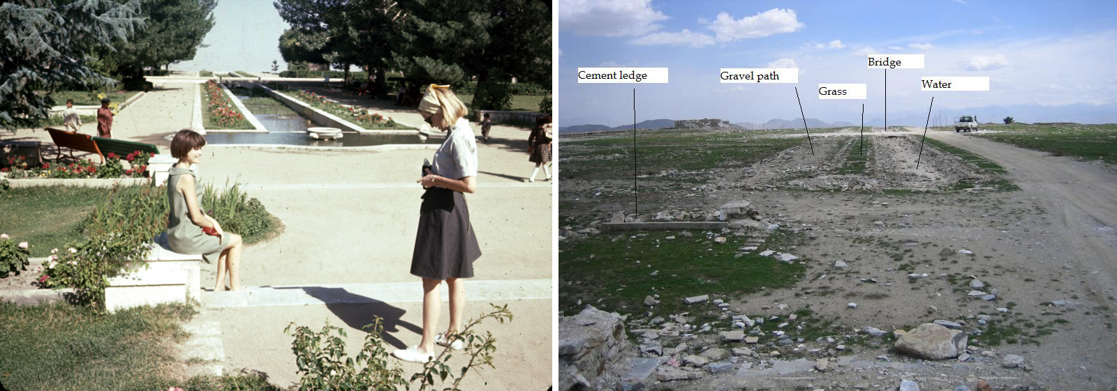 Paghman Gardens - Then & Now