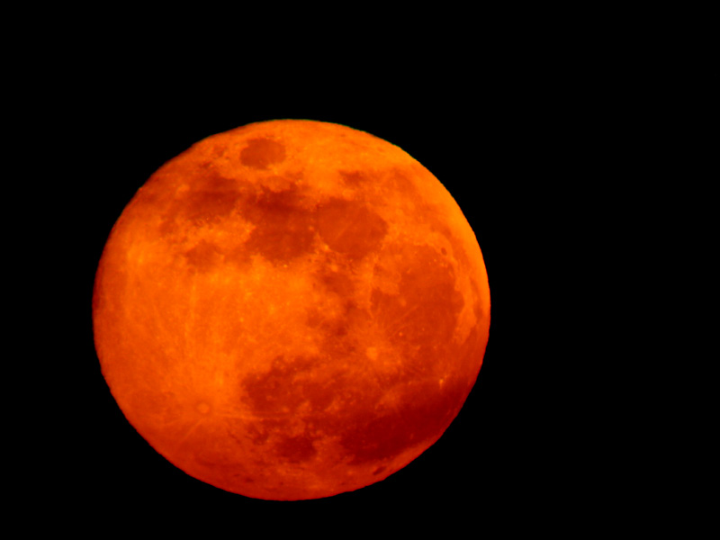 Full orange ball