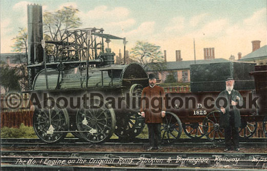 The No. 1 Engine on the Original Rails. Stockton & Darlington Railway