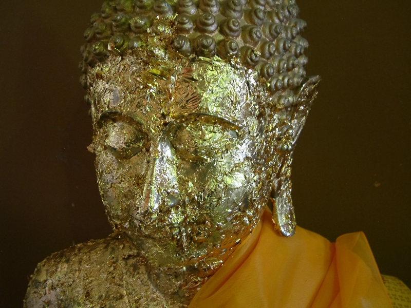 Buddha Encrusted with Gold Leaf