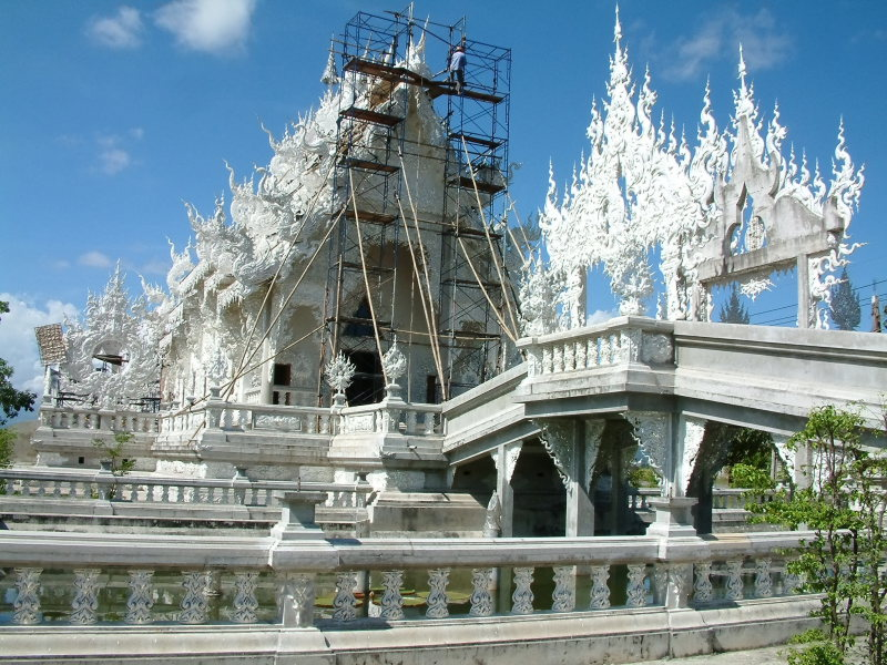Intricate Temple Under Construction
