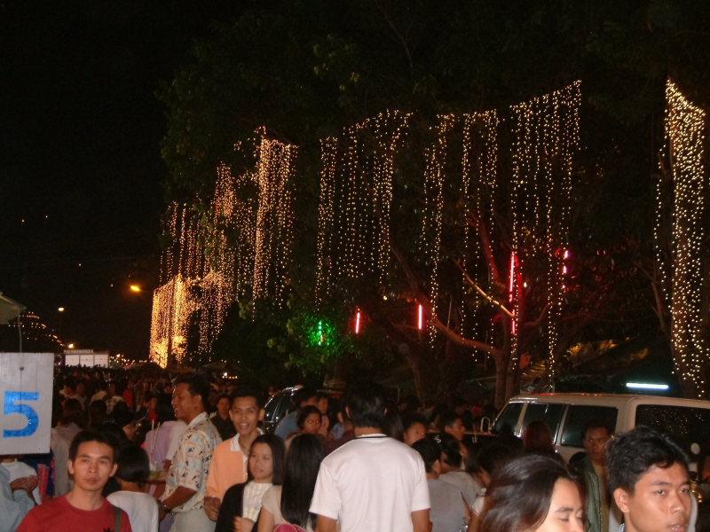 Streets of Phitsanulok During Loi Krathong