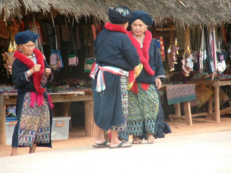 Women Dressed in Hil Tribe Clothing