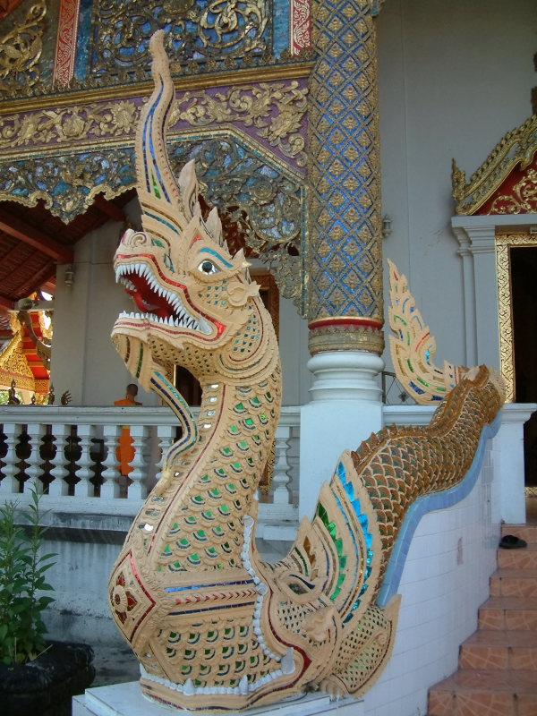 Ornate Dragon Near Chiang Mai