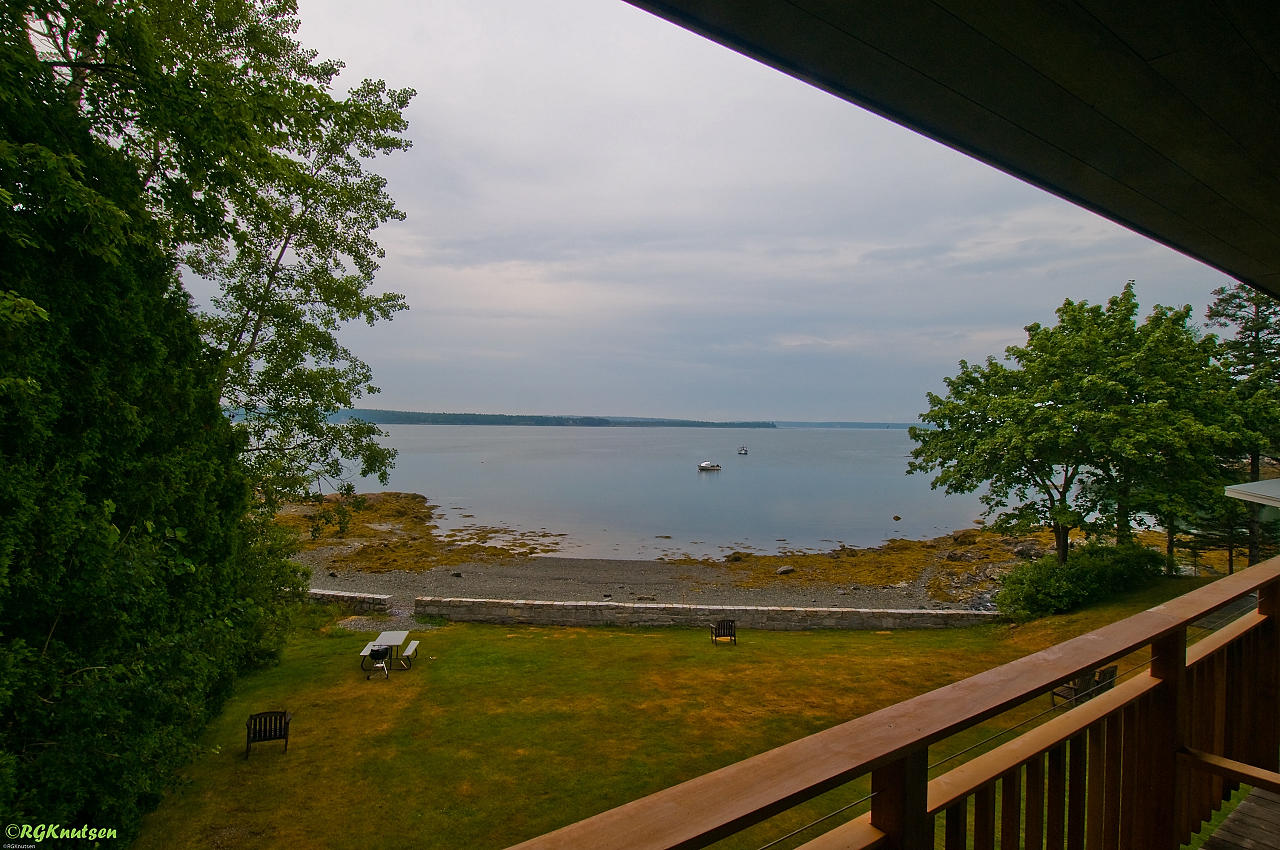 Bar Harbor - room view at Edgewater Motel