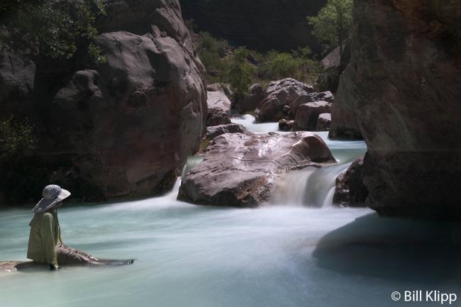 Relaxing at Havasu Creek