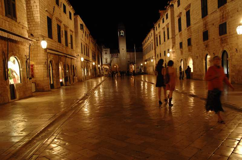 Night Scene --- Dubrovinik, Croatia 2